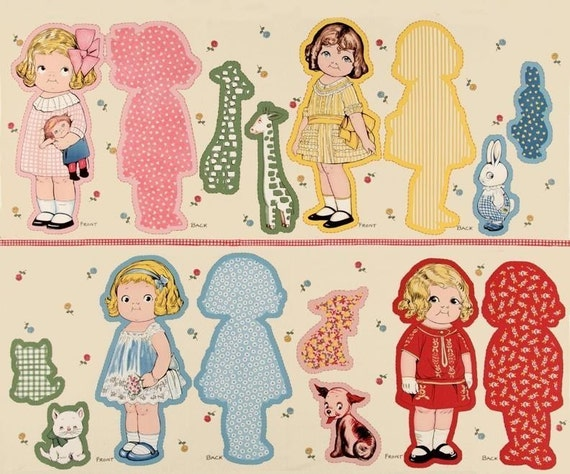 A Special Order For Christine Wonderful Aunt Lindy's Rag Paper Doll Fabric Panel