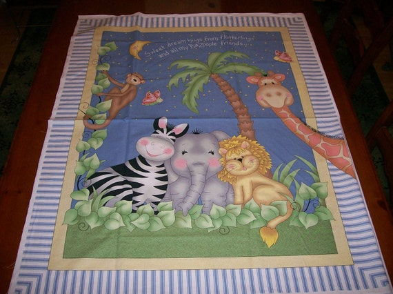 An Adorable Bazooples Fabric Panel Free US Shipping