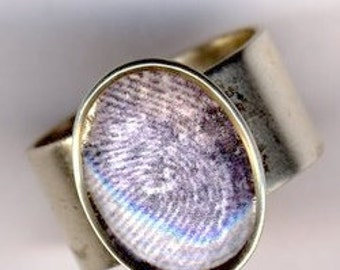 Fingerprint Ring Custom Adjustable Perfect Gift