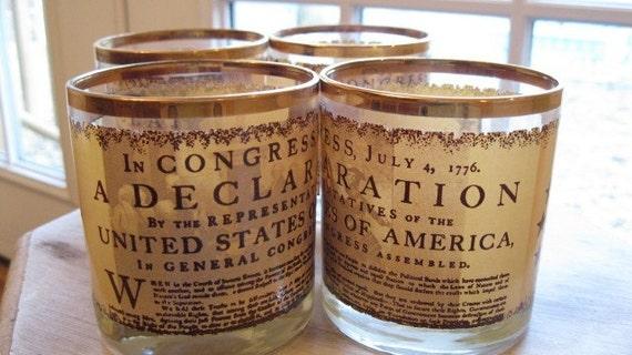 Declaration of Independence Glass Set