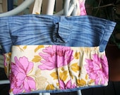 Upcycled/Recycled Denim and Amy Bulter Nappy/Diaper Bag or Large Tote