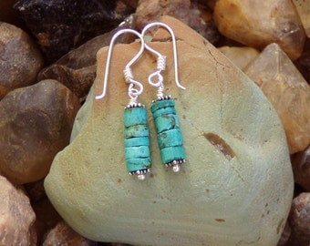 Natural Turquoise Drop Earrings