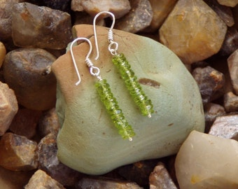 Powerful Peridot Dangle  Earrings