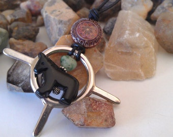 Jasper Pony Dream Catcher Colour changing Necklace