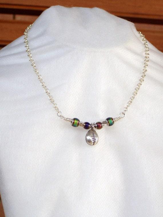 Rainbow Sea Garden Cowrie Chime Necklace