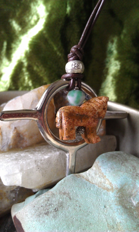 Pony Dream Catcher Necklace