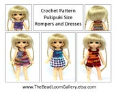 Crochet Pattern - Miniature Doll Size Rompers and Dresses - Pukipuki Size - PDF File Vol.8