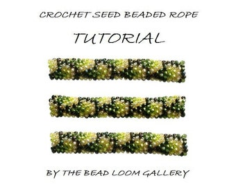 Crochet Beaded Rope PATTERN - Dragon Skin - PDF File Tutorial