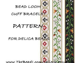 Bead Loom Cuff Bracelet Pattern Vol.15, Vol.17 - PDF File PATTERN