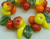 25 Czech Glass Beautiful Mixed Fruit Beads