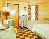 Del-Ray Motel, Vintage Postcard (Chrome)