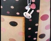 Candyland Bun Bun Bunny Rabbit Necklace (sterling silver)
