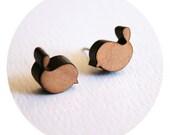 lil birdy wooden earrings