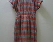 Vintage La Prjde Red Checkered Dress Sz. M/L (Reserved)