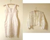 Soft pink embroidered vintage dress