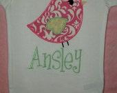 Shabby Chic Bird Onesie or Shirt