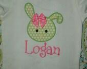 Spring Green Bunny Shirt or Onesie