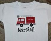Firetruck Shirt or Onesie