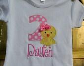 Easter Chick Birthday Shirt