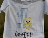 Boy's Easter Chick Birthday Shirt or Onesie
