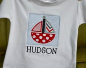 Sailboat Patch Shirt or Onesie