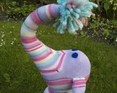 Sock Elephant Soft Toy by Socklings on Etsy