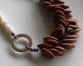 Pearl shell and Ampiyon seed necklace