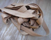 Fold over elastic  cream  color 5 yards listing