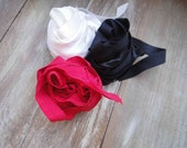 This listing is for 6 yards 2 of each color red, black  ,white