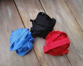 This listing is for 6 yards 2 of each color red , black ,blue