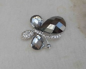 Butterfly buckles with rhinestones 1  pieces listing