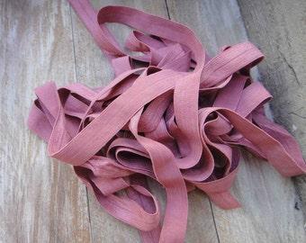 Fold over elastic 5 yds. pink color