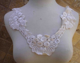 Cute  venice applique yoke ivory color 1  pieces listing