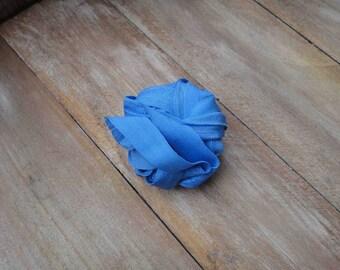 Blue  color  fold over elastic 5 yards  listing