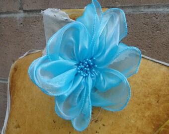 Cute organza  flower  1 piece listing
