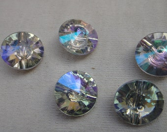 Nice  rhinestone buttons   5  pieces listing
