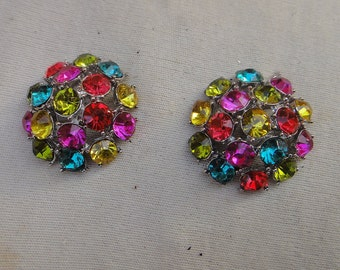 Beautiful buckles with rhinestones 2 pieces listing