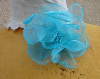 Cute organza  flower  with back pin