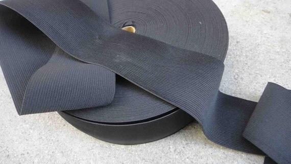 Black color elastic  2.5  inch wide  2 yard listing