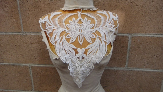 Cute embroidered  applique white   color