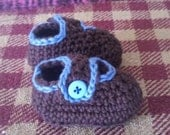 baby boys loafer style booties size newborn 0-3 months