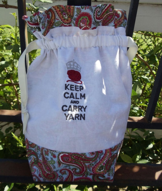 Keep Calm & Carry Yarn Project Bag
