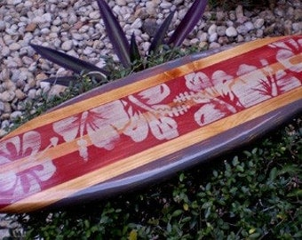 Vintage Nautral 4 foot Surfboard Wall Art Solid Wood by ...