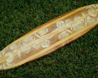 Items similar to Blue Spoon Tiki Surfboard Wall Art 3 Foot ...