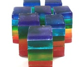 8 Rainbow Soap Sticks - party favor, vegan, kids, children, birthday, jabón, rainbow party, wedding, bridal shower, baby shower, bridesmaid