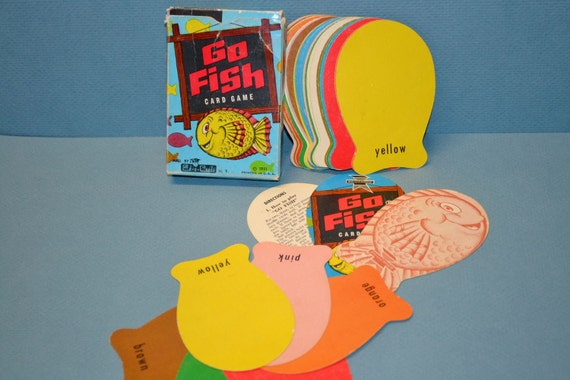 Vintage go fish card game by ed u cards 1951 60 year old for Go fish cards