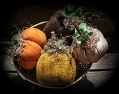 Harvest Time Primitive Pumpkins Set Of 4