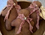 Primitive Folk Art Grubby Gingerbread Men Ornies Doll-Tucks Set Of 3-FAAP
