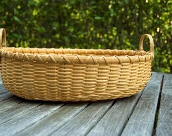 Handmade Shaker Hybrid Nantucket Lightship Basket Large Nina Webb Basket
