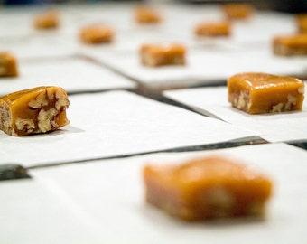 Honey Walnut Caramels 4oz 1/4 LB Handmade Quarter Pound